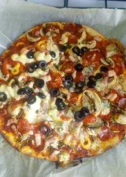 Kecskesajtos pizza