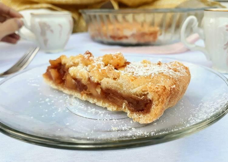 Körtés-karamellás csipegetős galette