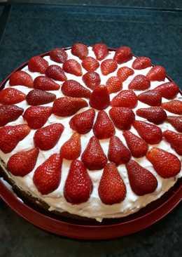 Epres mascarpone torta diétásan