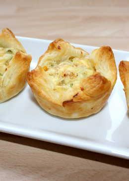Sajtos-csirkés muffin