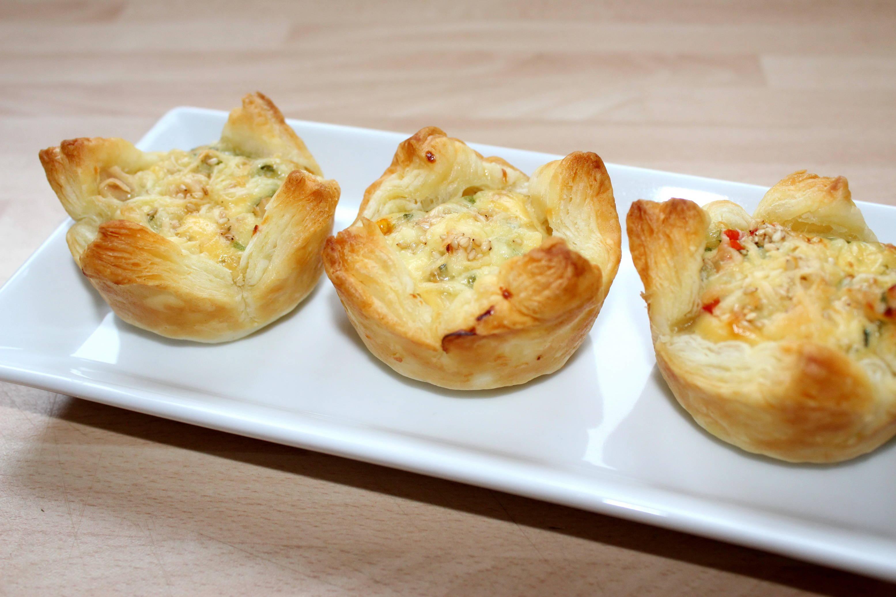 Sajtos-csirkés muffin recept főfotó