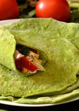 Spenótos tortilla