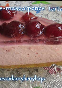 Meggyes-mascarponés torta (Gluténmentesen is)