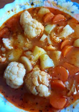 Zöldséges karfiol leves