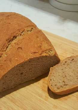 Dagasztás nélküli rozsos kenyér - éjszakai kelesztéssel