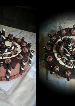 Csokoládés csokitorta / főzött krémmel (liszt nélkül)