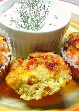 Mennyei kapros-cukkinis muffin baconnal
