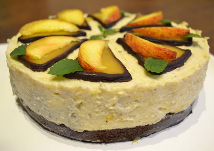 Fűszeres őszibarack torta