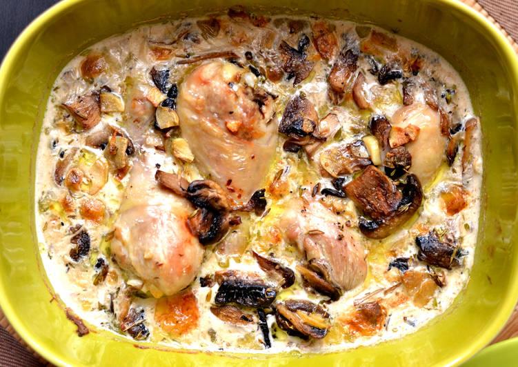 Gombás-tejszínes csirkecomb