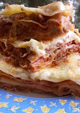 Lasagne, bolognai szósszal