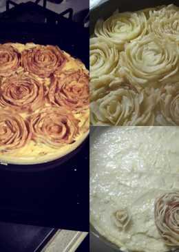 Rózsa almás pite