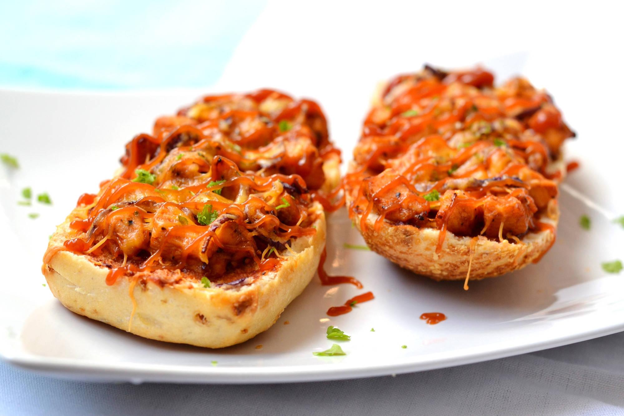 BBQ csirkés melegszendvics recept főfotó