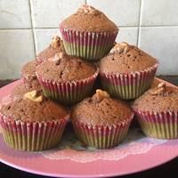 Cappuccino muffin dióval