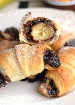 Nutellás, banános croissant