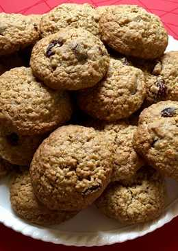 Puha mazsolás zabpelyhes keksz (Cookie)