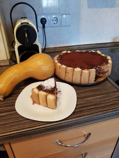 Sütőtökös, csokoládés, narancsos torta