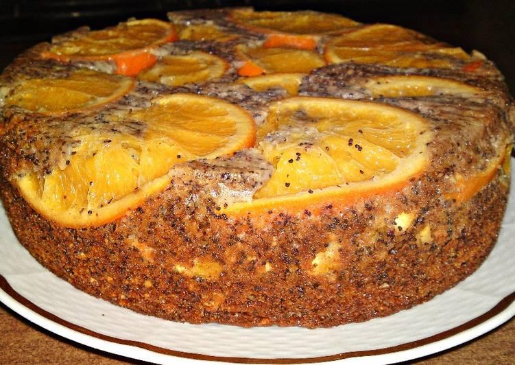 Narancsos, mákos, mandulás torta