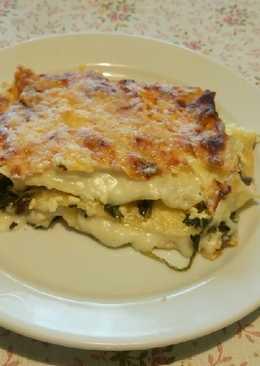 Spenótos, cottage cheeses lazagna