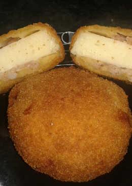 Baconbe zárt sajt rántva