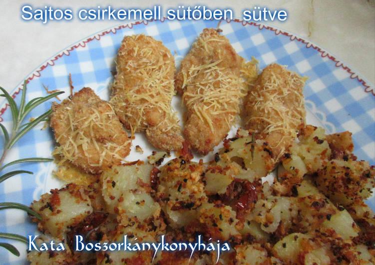 Sajtos csirkemell, sütőben sütve (Gluténmentesen is)