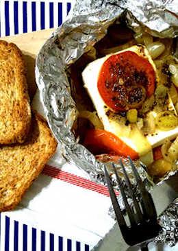 Grillezett feta görög módra