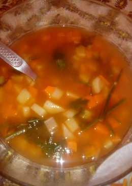 Burgonyás zöldséges tarhonya leves!