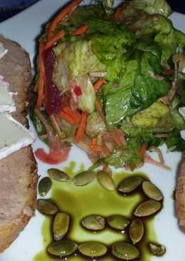 Tökös, céklás saláta
