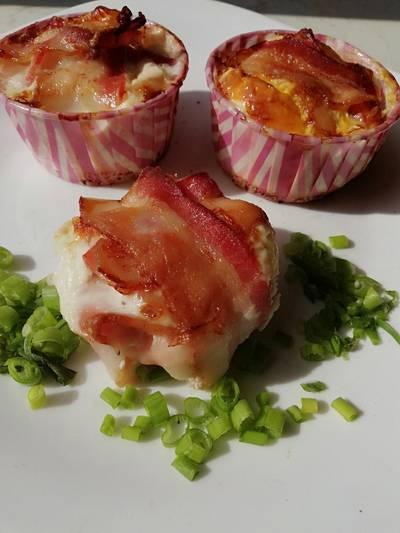 Tojásos ~ baconos muffin