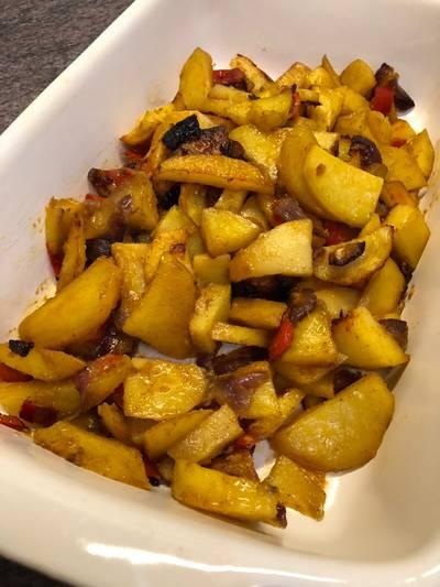 Sült krumplis köret bármilyen húshoz