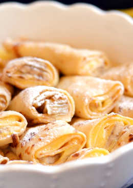"""Banános-vaníliás """"rakott"""" palacsinta"""