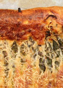 Zöldspárgás-sajtos párna