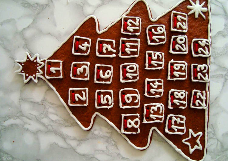 Mézeskalács adventi naptár (letölthető sablonnal)