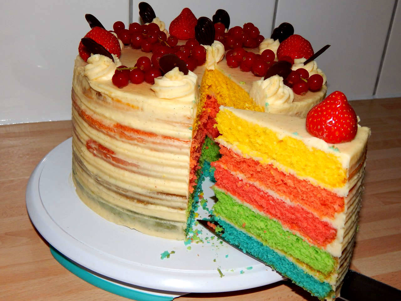 Szivárvány torta recept főfotó
