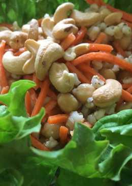 Citromos, borsos árpagyöngy saláta csicseriborsóval