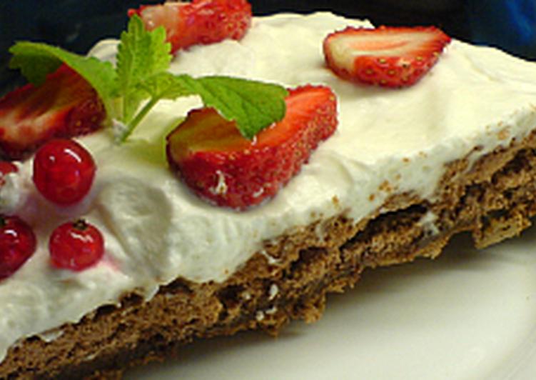 Csokoládés Pavlova torta
