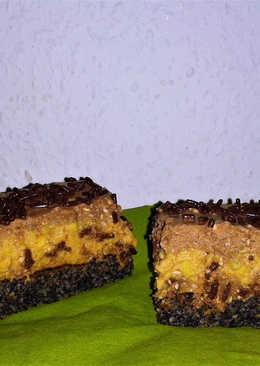 Mákos-Karamell szelet