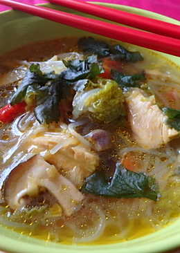 Thai csirkeleves üvegtésztával