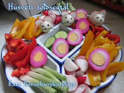 Húsvéti zöldségtál