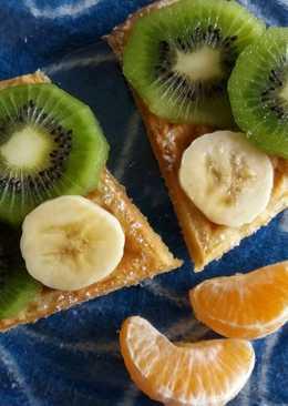 Almás-fahéjas gofri gyümölccsel!🌞