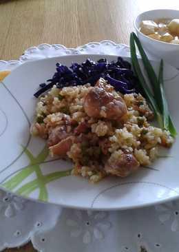Baromfihúsos rizses kása