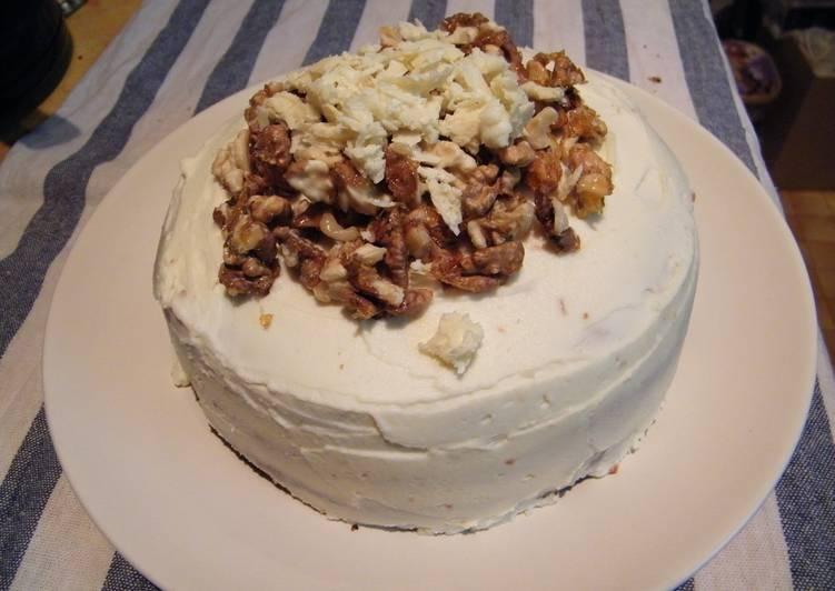 Diótorta recept fehér csokoládés krémmel