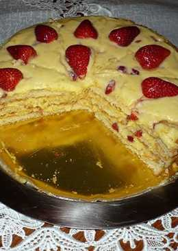 Sütés nélküli epres torta.........