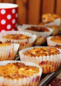Túrós-málnás muffin