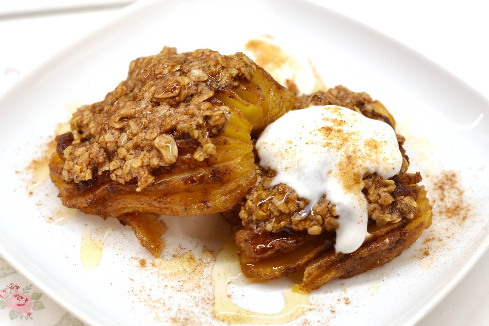 Hasselback sült alma recept főfotó