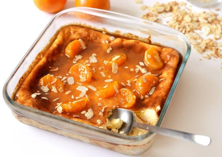 Sült ricotta recept, mézes-narancssziruppal