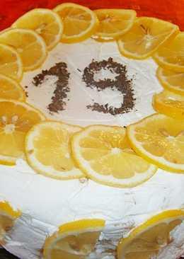 Citromos mascarpone krém torta 🍋