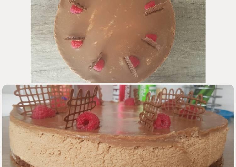Málnás csokoládés mousse torta 🍰