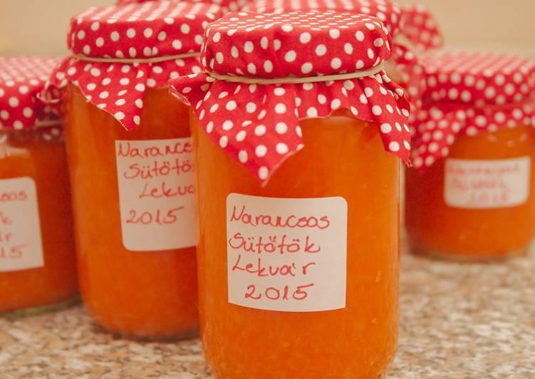 Narancsos sütőtök lekvár