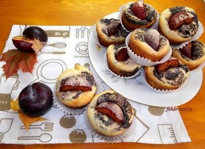 Mákos-ringlós kelt muffin
