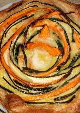 Zöldséges salátatorta